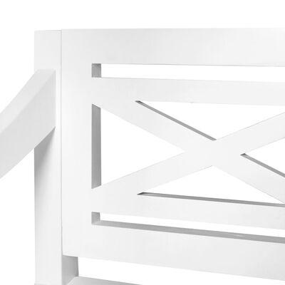 vidaXL Banco Batavia 136 cm madera maciza de caoba blanco