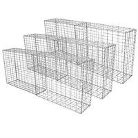 Cestas De Acero Inoxidable De Exterior 100 X 80 X 30cm Pack De 6