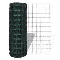 vidaXL Set de euro valla acero verde 25x0,8 m