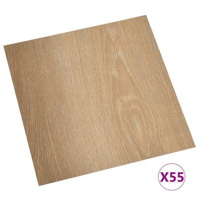 vidaXL Lamas para suelo autoadhesivas 55 uds PVC 5,11 m² marrón