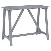 vidaXL Mesa alta de jardín madera maciza de acacia gris 140x70x104 cm