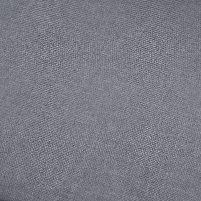 vidaXL Sofá de 3 plazas tela gris claro