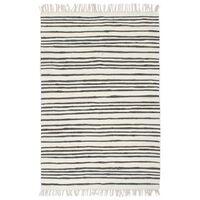 vidaXL Alfombra hecha a mano Chindi algodón antracita blanco 160x230cm