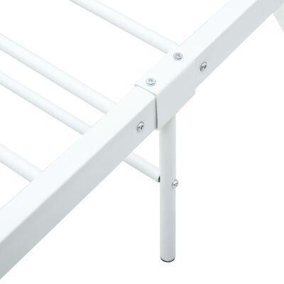 vidaXL Estructura de cama de metal blanco 200x200 cm