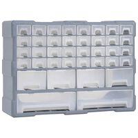 vidaXL Organizador multicajones con 40 cajones 52x16x37,5 cm