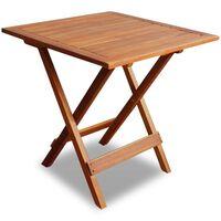 vidaXL Mesa para terraza bistró madera maciza de acacia 46x46x47 cm