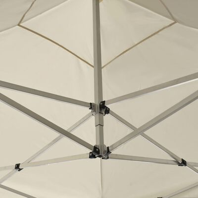 vidaXL Carpa plegable profesional de aluminio color crema 2x2 m