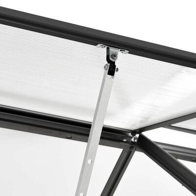 vidaXL Invernadero de aluminio gris antracita 1,38 m³