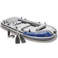 Intex Barca hinchable Seahawk 2 68325NP con remos y bomba de inflado
