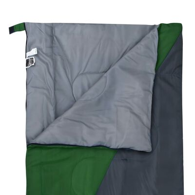 vidaXL Saco de dormir de sobre ligero verde 1100 g 10°C