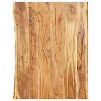 vidaXL Superficie de mesa de madera maciza de acacia 80x(50-60)x2,5 cm