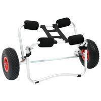 vidaXL Carrito de kayak de aluminio