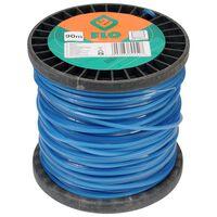 FLO Cable de cortacésped azul 2,4 mm 90 m