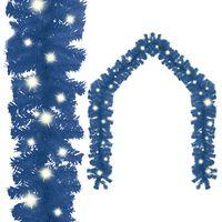 vidaXL Guirnalda de Navidad con luces LED azul 5 m