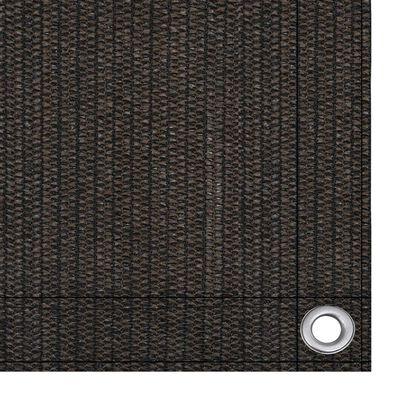 vidaXL Toldo para balcón HDPE marrón 75x400 cm