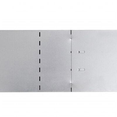 Set 10 paneles divisorios flexibles de acero galvanizado 100 x 15 cm