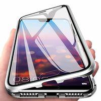 Funda magnética para Huawei P20 con protector de pantalla - plateado