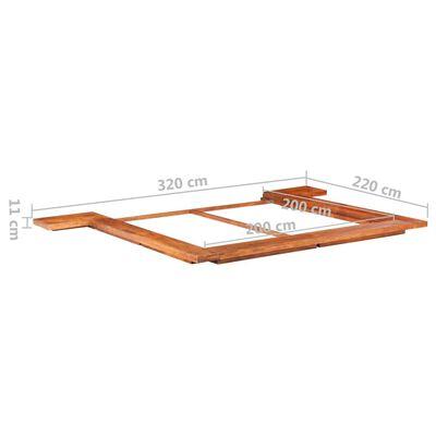 vidaXL Estructura para futón japonés madera maciza de acacia 200x200 cm