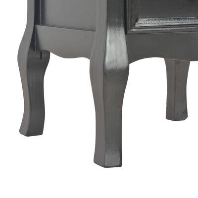 vidaXL Mesita de noche de MDF negra 35x30x49 cm