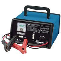 Draper Tools Cargador de batería 25,8x14,5x25 cm 6/12 V 8,4 A