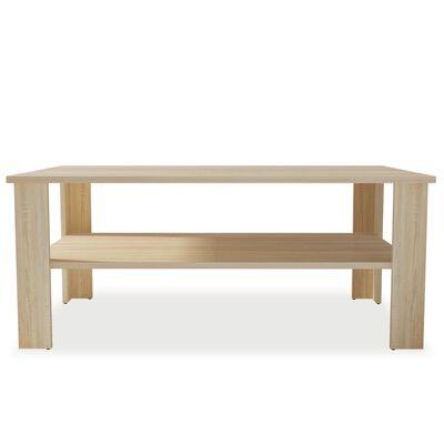vidaXL Mesa de centro de madera aglomerada 100x59x42 cm color roble