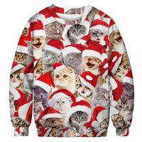 Jersey navideño con gatos - XL