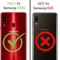 Funda para teléfono móvil para Samsung Galaxy A20S - transparente