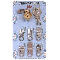 Cerradura Buzon Cartero Cromada Nº1 - Btv - 60011..