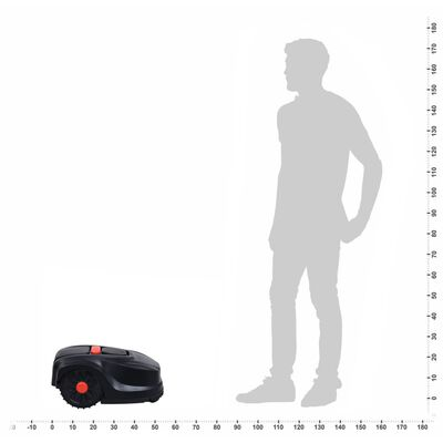 vidaXL Robot cortacésped 1000 m² con LCD batería 4,4Ah 24V