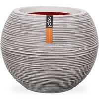 Capi Jarrón en forma de bola Nature Rib 40x32 cm color marfil KOFI270