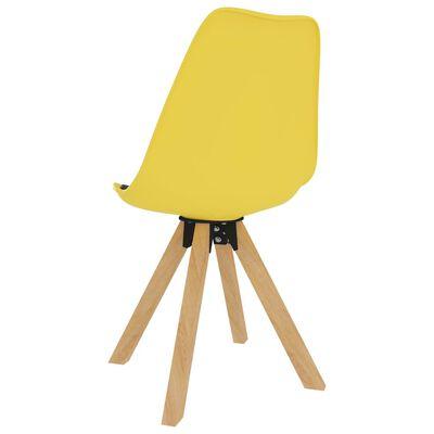 vidaXL Juego de comedor 5 piezas negro y amarillo
