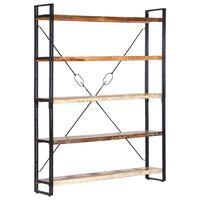 vidaXL Estantería de 5 niveles madera maciza reciclada 140x30x180 cm