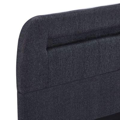 vidaXL Estructura de cama con LED tela gris oscuro 140x200 cm