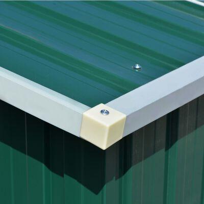 vidaXL Caseta de jardín de metal verde 257x489x181 cm