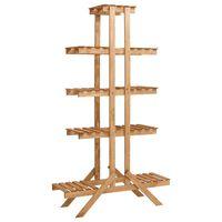 vidaXL Soporte para plantas de madera de abeto 83x25x142 cm