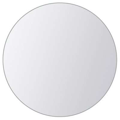 vidaXL Azulejos de espejo redondos vidrio 8 unidades