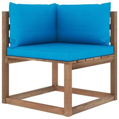 vidaXL Muebles de palets jardín 6 pzas cojines madera pino impregnada