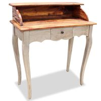 vidaXL Escritorio de madera maciza reciclada 80x40x92 cm