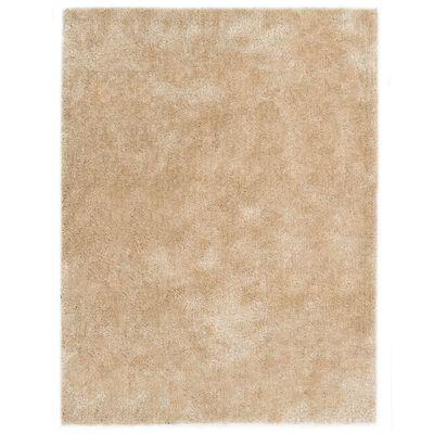 vidaXL Alfombra de pelo beige 120x160 cm