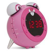 Nikkei Reloj despertador de niños radio FM proyector NR280PRABBIT rosa