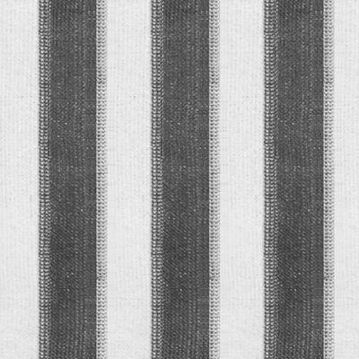 vidaXL Persiana enrollable 140x230 cm a rayas gris antracita y blanca