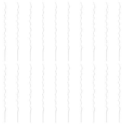 vidaXL Soporte para planta espiral 20 unidades 170cm acero galvanizado