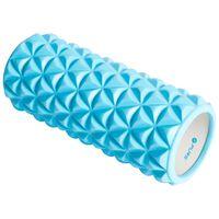 Pure2Improve Rodillo de yoga azul y blanco 33x14 cm