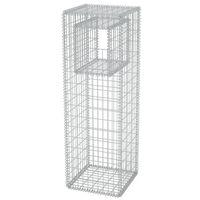 vidaXL Cesta poste/jardinera de gaviones de acero 50x50x160 cm