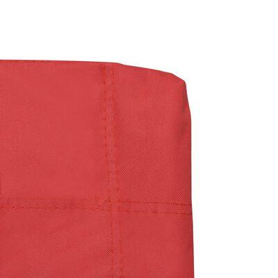 vidaXL Sillas de camping plegables 2 unidades rojo