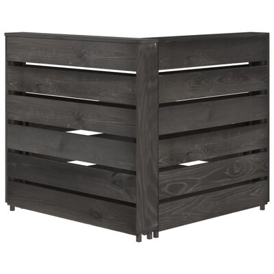 vidaXL Set de muebles de jardín 7 pzas madera de pino impregnada gris