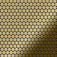 ALLOY Penny-Ti-GM Mosaico de metal sólido Titanio oro