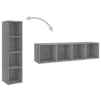 vidaXL Juego de mueble para TV de 3 piezas aglomerado gris hormigón