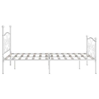 vidaXL Estructura de cama con somier metal blanco 140x200 cm