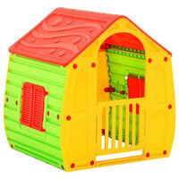 vidaXL Casita de juegos para niños 102x90x109 cm